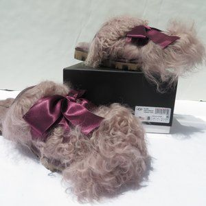UGG Classic Coquette Mongolian Slippers 9 NEW PORT